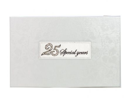 Beaded 25th Silver Wedding Anniversary Photo Album